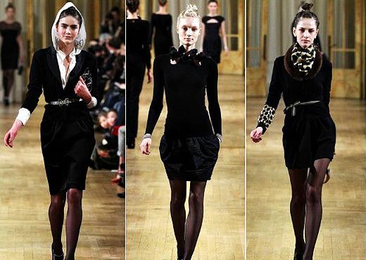 Как обыграть темное платье