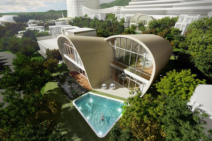 оригинальный архитектурный проект The Moebius House 2 (680x453, 404Kb)