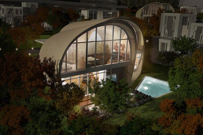 оригинальный архитектурный проект The Moebius House 4 (680x453, 134Kb)