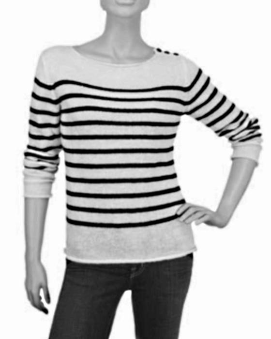 Пуловер Реглан С Вертикальными Полосами С Доставкой
