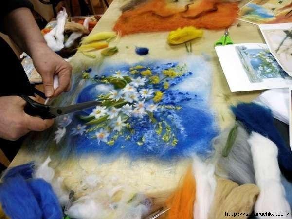 Как сделать картины из шерсти