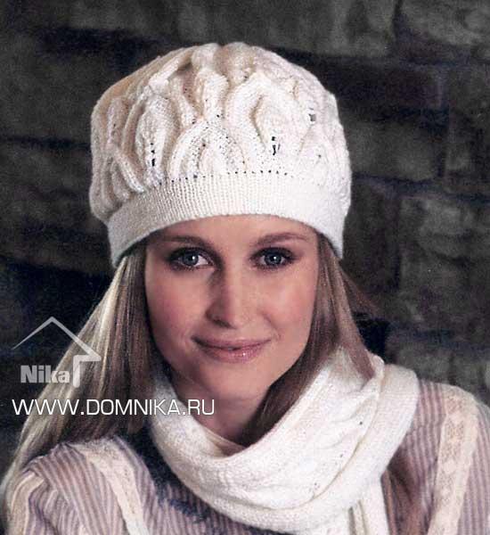 Схемы вязания шапки спицами.