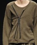 Вариант декорирования молнией старого свитера - Новая жизнь старых вещей - Елена Леус.