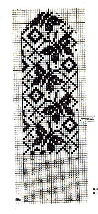 Схемы узоров для варежек2