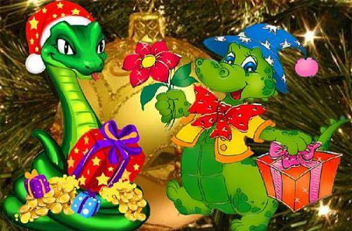Смс поздравления с наступившим новым годом 2013 годом змеи смешные короткие