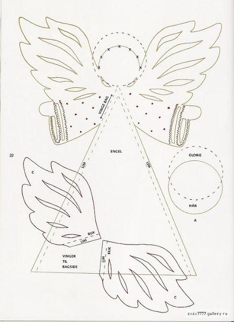 Ангел шаблон для открытки с