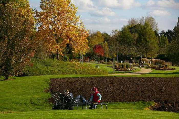 Бад Цвишенан : Park der Garten 69325