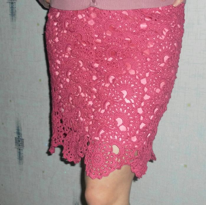 юбка ленточным кружевом