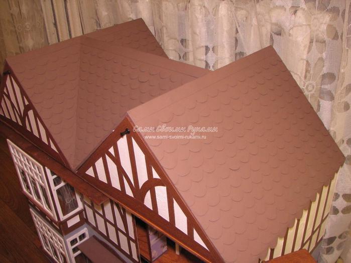 Крыша для кукольного домика как сделать 397