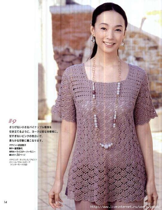 Японское вязание юбки крючком