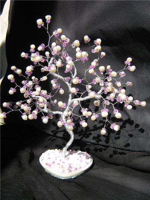 Как сделать дерево из жемчуга 24