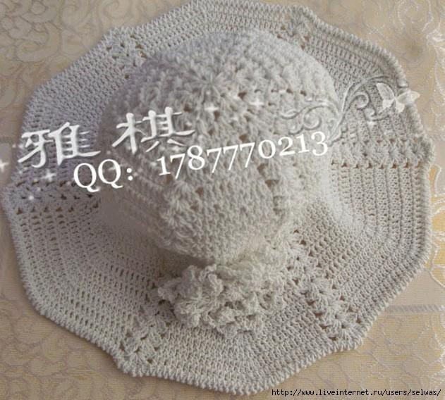 Шляпки женские ажурные вязаные крючком/4683827_20130113_164607 (631x568, 220Kb)