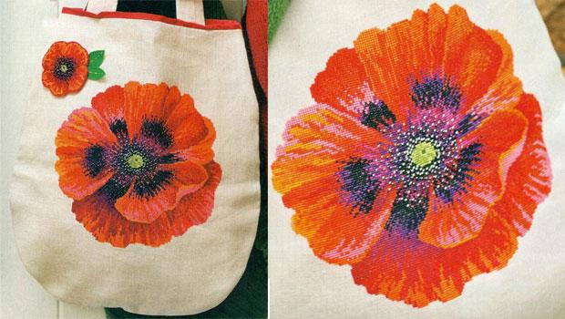Схемы...  Деревенская ПТ 88-Красный мак .  Матренин посад / рисунок на .  Наборы для вышивания Вышивка .