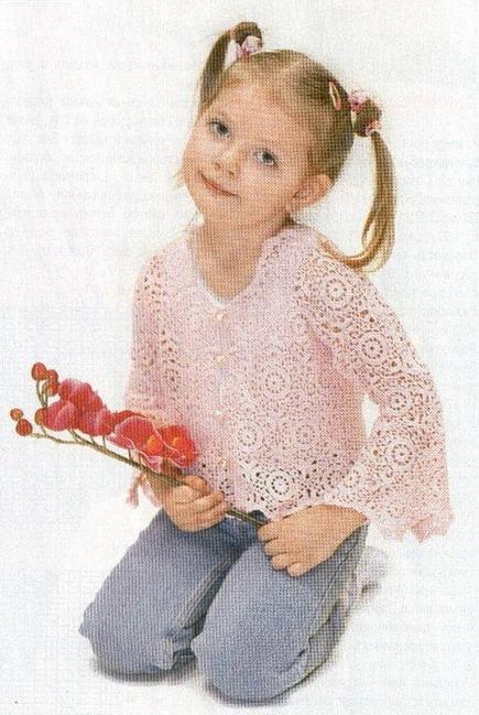 Розовая кофточка из мотивов (435x649, 57Kb)