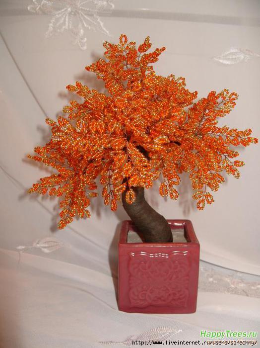 Подборка деревьев из бисера 3.