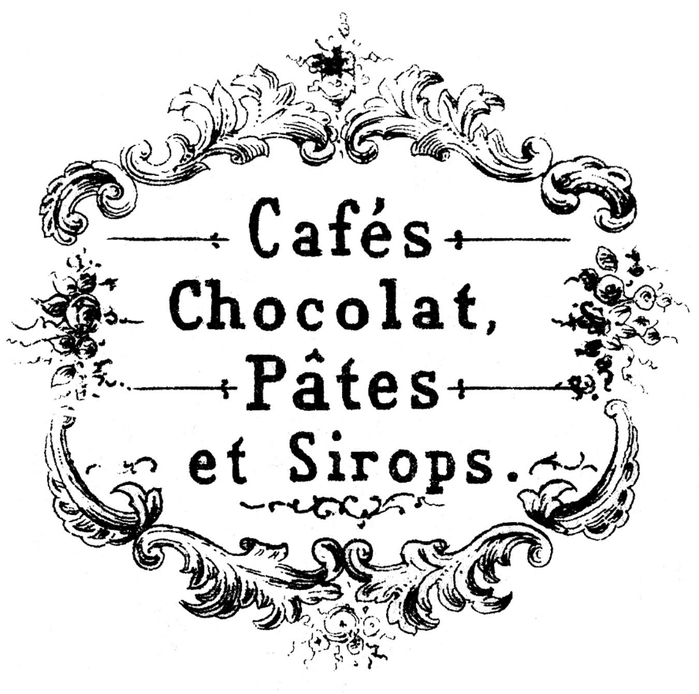 chocolat cafe vintage graphicsfairy3bwm (700x694, 203Kb)