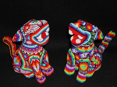 Традиционное творчество индейцев Уичоли 96270608_huichol_cats