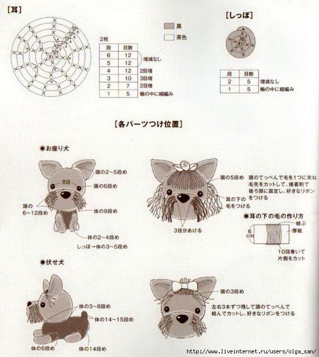 Схема вязания миниатюрных игрушек