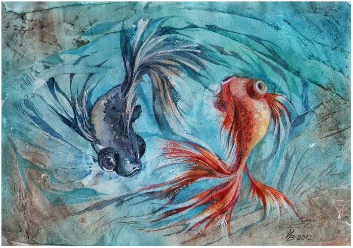 две рыбки (700x492, 103Kb)