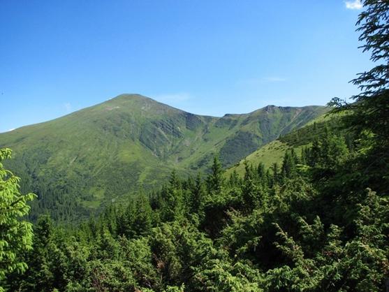 Говерла - самая высокая гора и наивысшая точка Украины. Высота горы — 2061 м над уровнем моря (557x418, 403Kb)