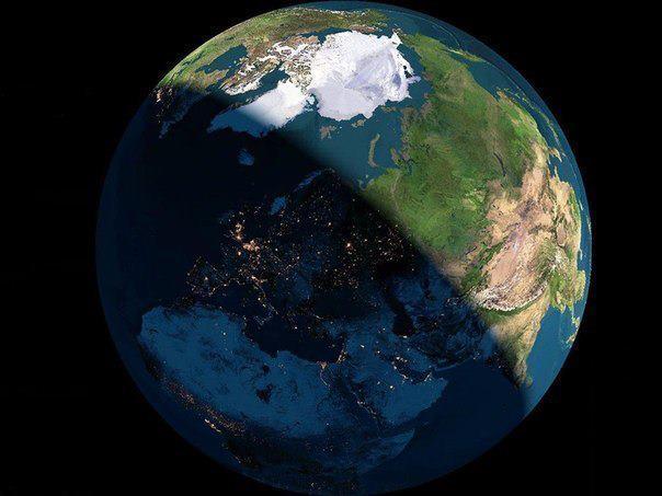 День и ночь из Космоса (604x453, 36Kb)