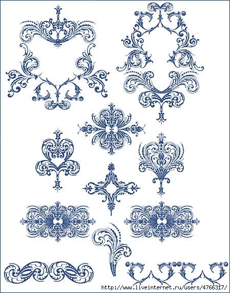 Трафареты орнамента для вышивки