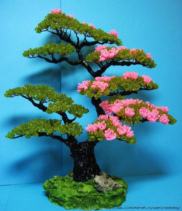 Как сделать дерево с бисера фото