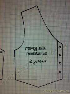 Как сшить жилетку для девочки своими руками - Мария Новикова 6