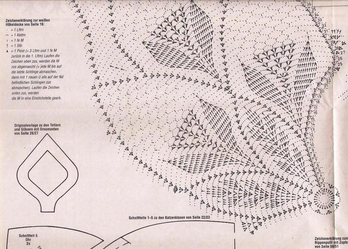 Схемы скатерти больших размеров для вязания крючком