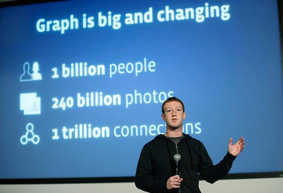 Новый поисковик для Facebook представил Марк Цукерберг Фотографии