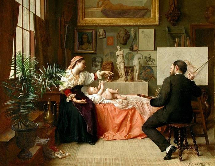 auguste-raynaud-french-1845-1877-the-young-models-moment (700x541, 337Kb)