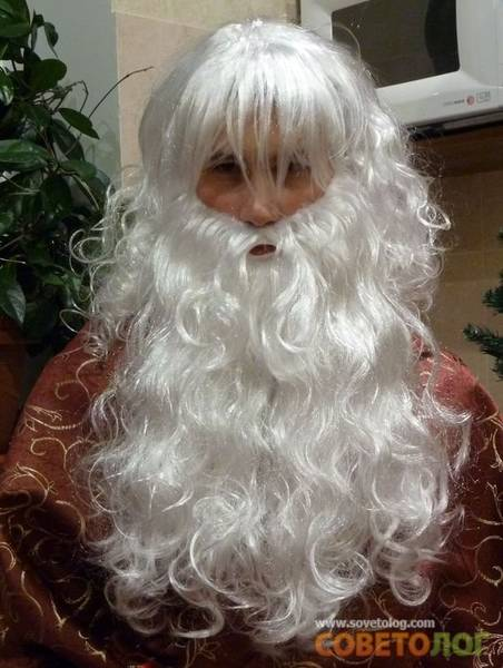 Борода деда мороза своими руками быстро