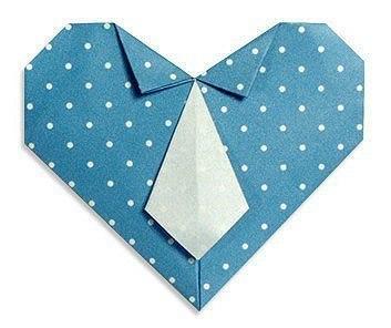 Оригами сердце для мужчины.