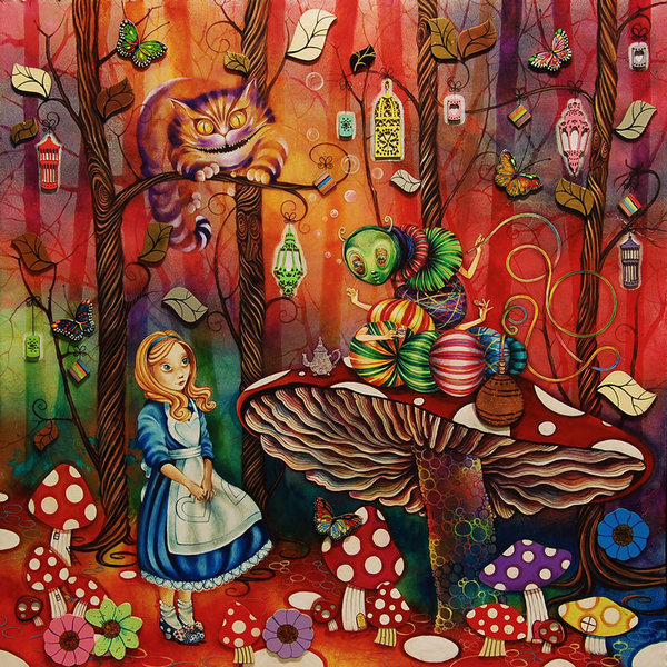 Алиса встречает гусеницу (600x600, 183Kb)