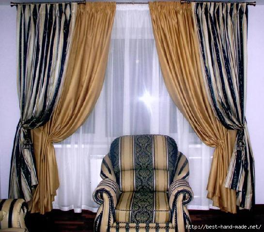 коричневые шторы в интерьере фото