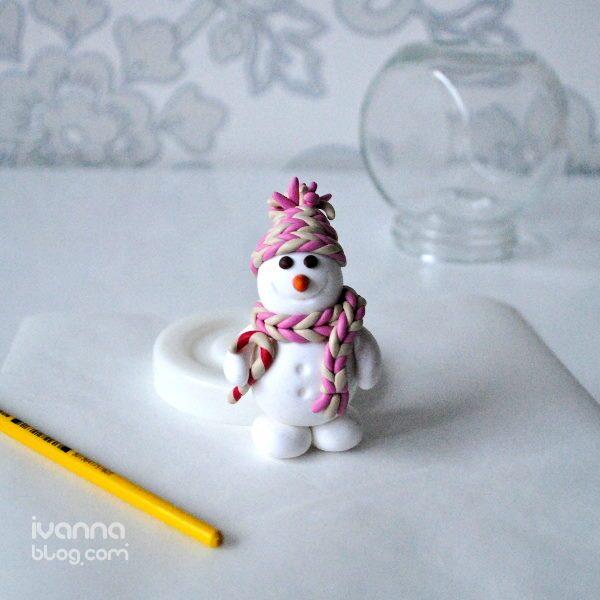 Новогодний сувенир своими руками из полимерной глины