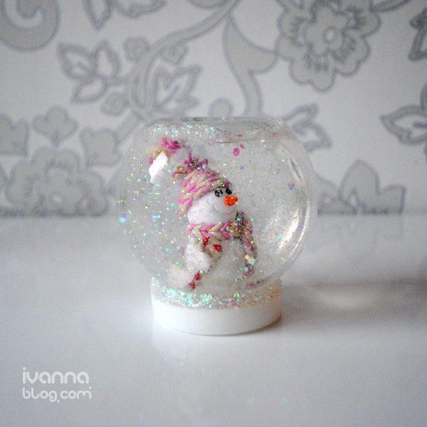 Новогодние поделки снежный шар