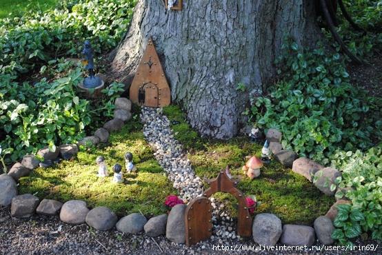 Домики для сада своими руками фото