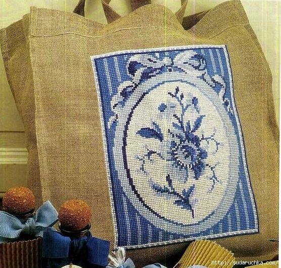 Далее схема вышивки для сумки