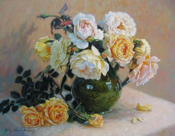 Yellow_roses_in_green_vase-600x466 (600x466, 40Kb)