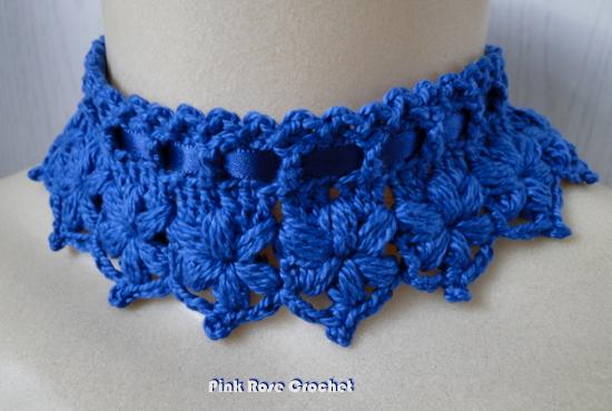 Colar Croche Azul Marinho Crochet Collar (550x370, 451Kb)