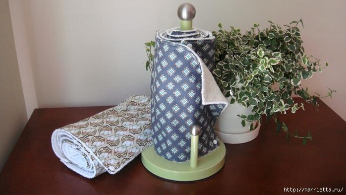 Кухонные полотенца - замену бумажным, шьем сами