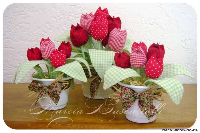 Как сшить цветок из ткани своими руками мастер класс