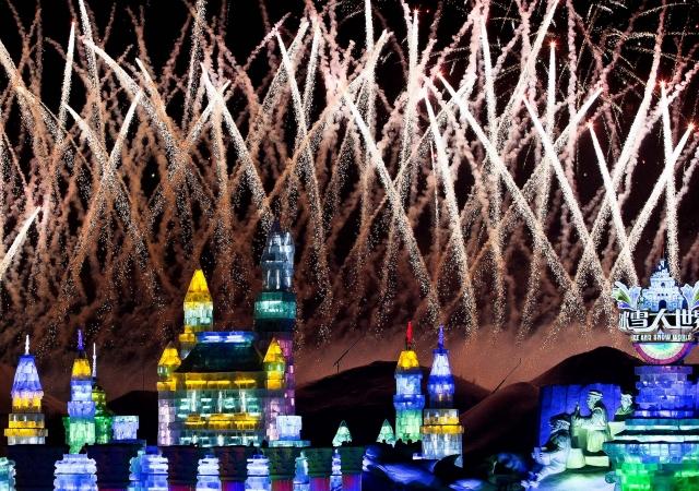 фестиваль ледяных скульптур харбина (640x450, 368Kb)