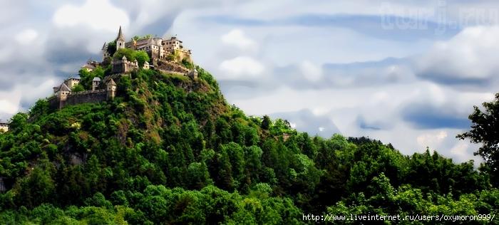 Австрия, Каринтия, замок Хохостервиц: история о великане, Золушке и неприступном замке