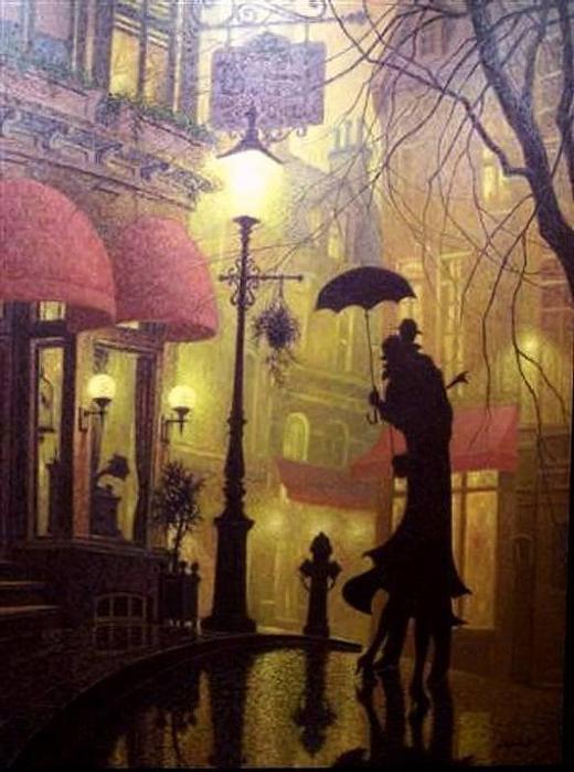 Denis Nolet 1964 - Canadian Figurative painter - Night Tango in Paris (4) (520x699, 55Kb)