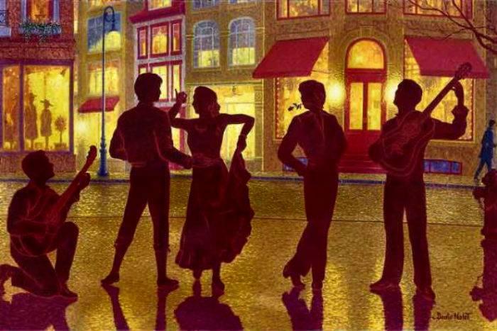 Denis Nolet 1964 - Canadian Figurative painter - Night Tango in Paris (12) (700x467, 58Kb)