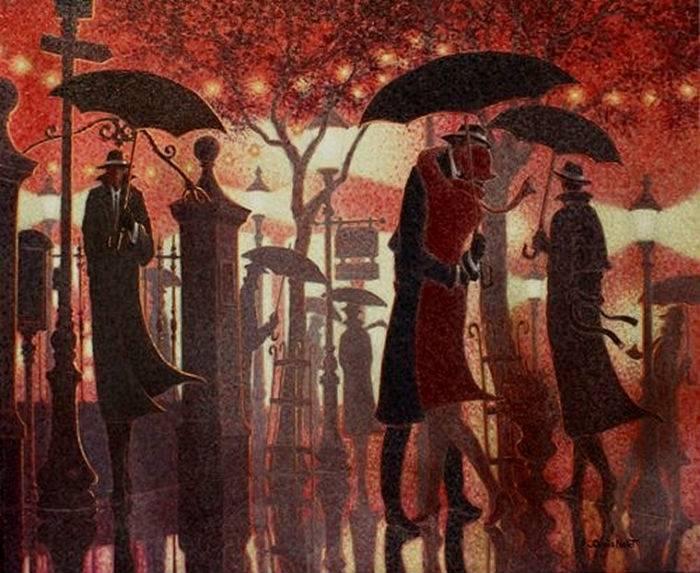 Denis Nolet 1964 - Canadian Figurative painter - Night Tango in Paris (14) (700x573, 75Kb)