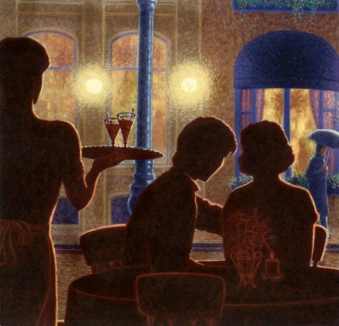 Denis Nolet 1964 - Canadian Figurative painter - Night Tango in Paris (15) (700x673, 194Kb)