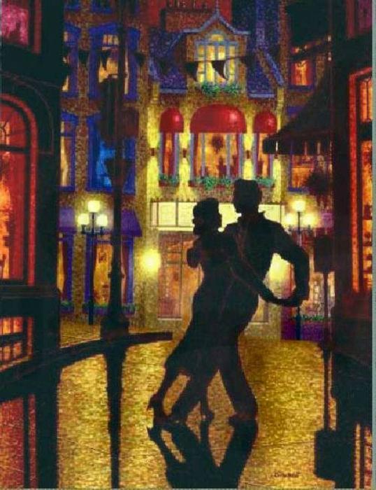 Denis Nolet 1964 - Canadian Figurative painter - Night Tango in Paris (18) (538x700, 430Kb)